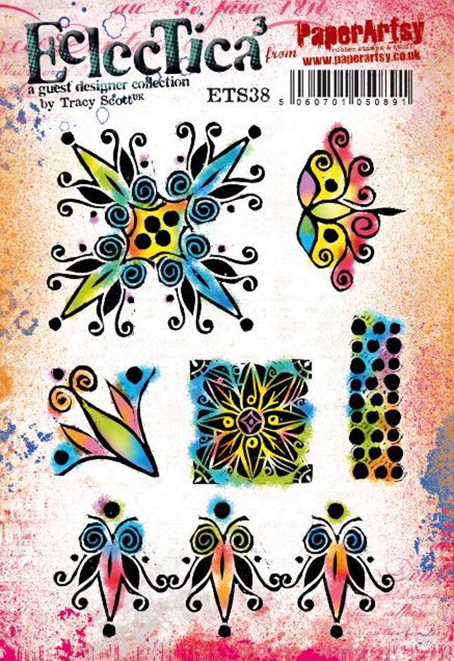 Paper Artsy ECLECTICA3 TRACY SCOTT 38 Cling Stamps ets38 zoom image