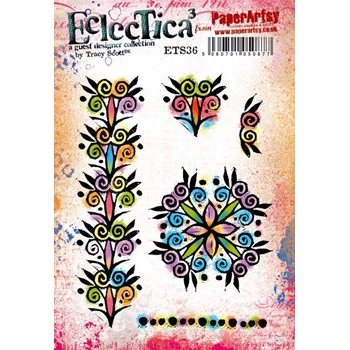Paper Artsy ECLECTICA3 TRACY SCOTT 36 Cling Stamps ets36