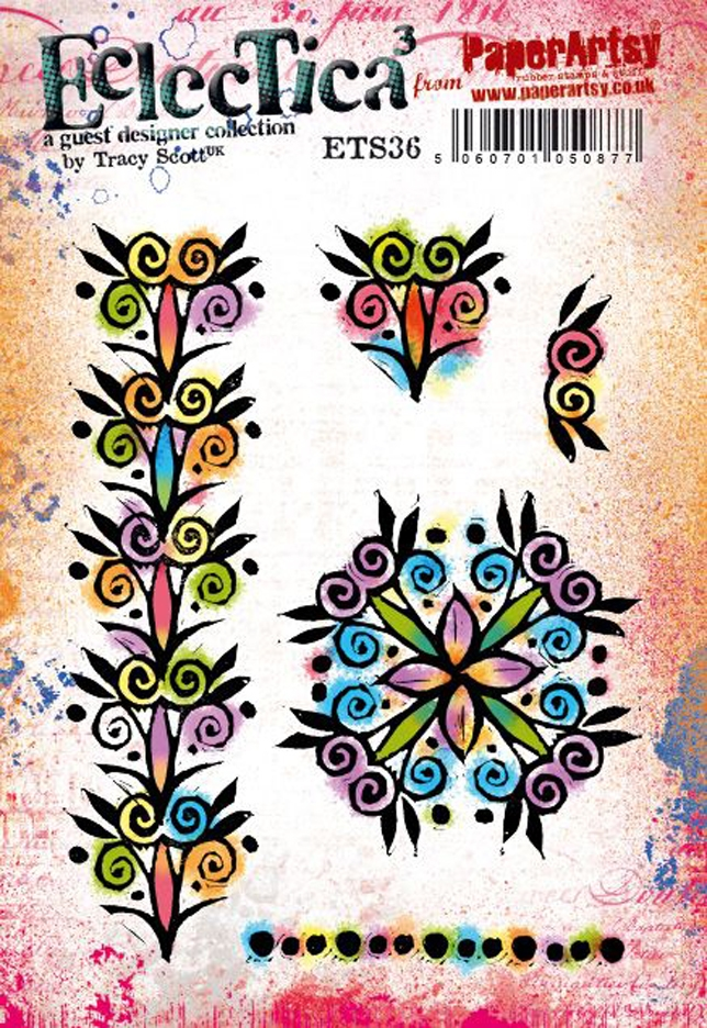 Paper Artsy ECLECTICA3 TRACY SCOTT 36 Cling Stamps ets36 zoom image