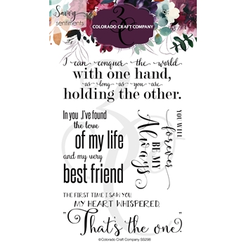 Colorado Craft Company Savvy Sentiments LARGE LOVE Clear Stamps SS298