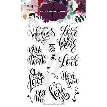 Colorado Craft Company Savvy Sentiments YOU AND ME Clear Stamps SS297