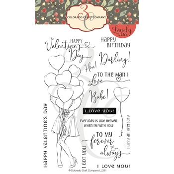 Colorado Craft Company Lovely Legs I GOT YOU BABE Clear Stamps LL291