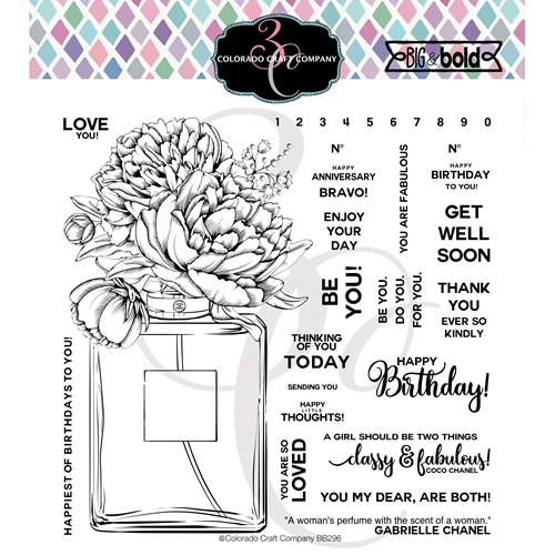 Colorado Craft Company Big and Bold PERFUME BOUQUET Clear Stamps BB296 Preview Image