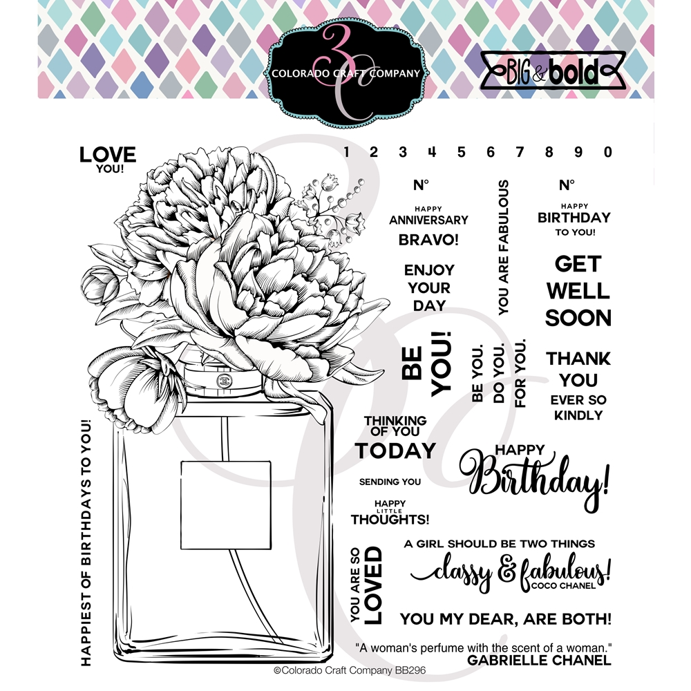 Colorado Craft Company Big and Bold PERFUME BOUQUET Clear Stamps BB296 zoom image