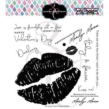 Colorado Craft Company Big and Bold LOVE'S KISS Clear Stamps BB295