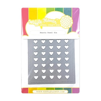 Waffle Flower HEARTS PANEL Dies 310368