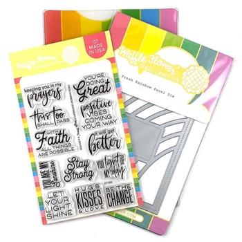 Waffle Flower FRESH RAINBOW Clear Stamp and Die Combo WFC300