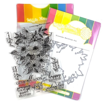 Waffle Flower BLOSSOMS Clear Stamp and Die Combo WFC297