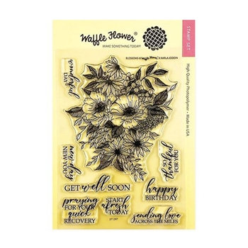 Waffle Flower BLOSSOMS Clear Stamps 271297