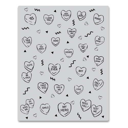 Hero Arts Cling Stamp CANDY HEARTS PEEK A BOO CG805 Preview Image