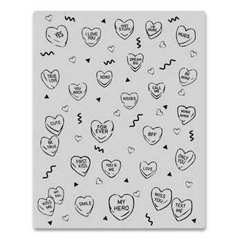 Hero Arts Cling Stamp CANDY HEARTS PEEK A BOO CG805