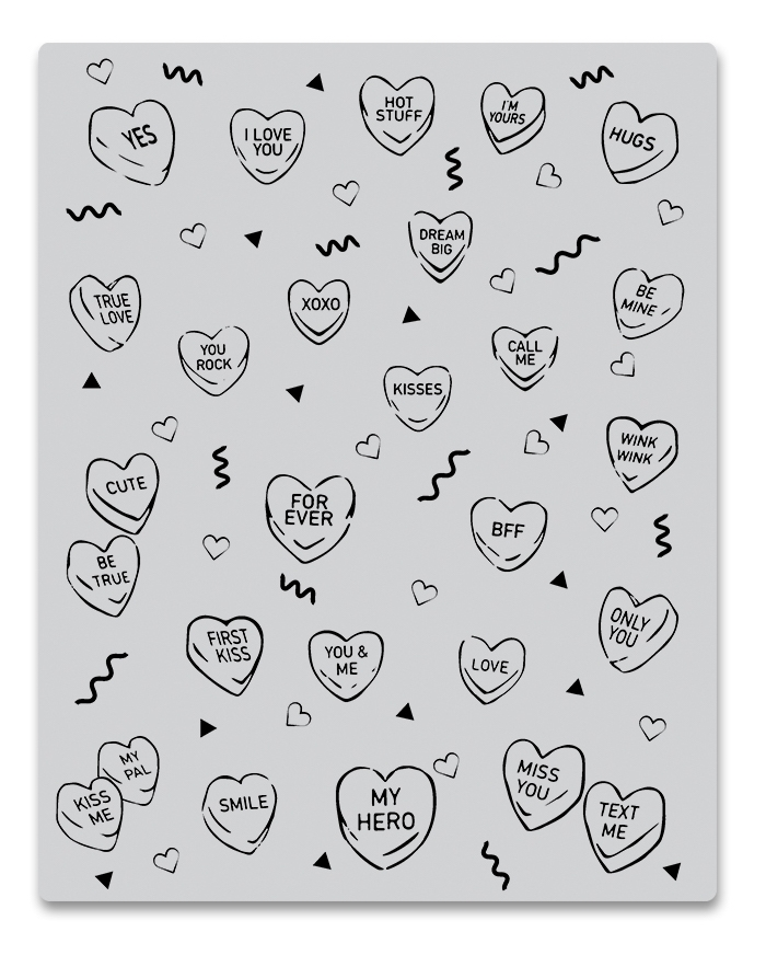 Hero Arts Cling Stamp CANDY HEARTS PEEK A BOO CG805 zoom image