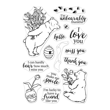 Hero Arts Clear Stamps UNBEARABLY THANKFUL CM434