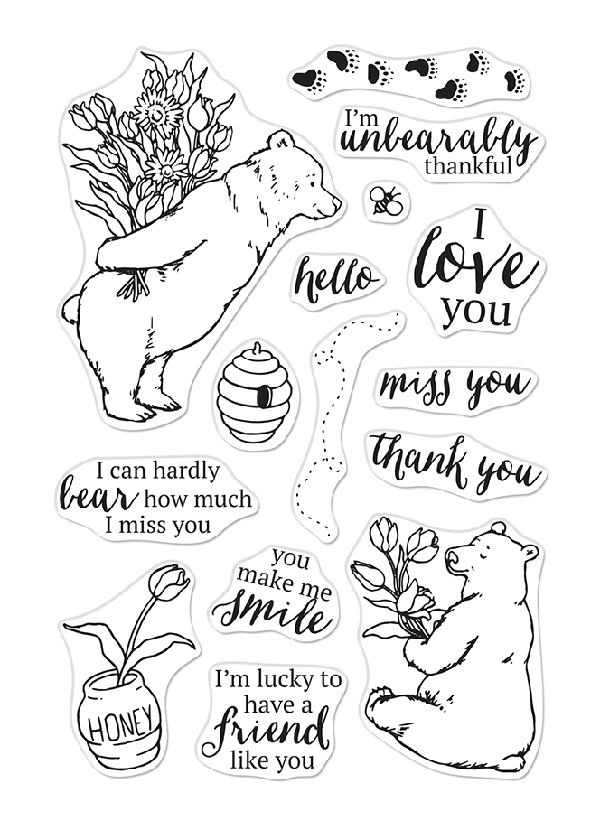 Hero Arts Clear Stamps UNBEARABLY THANKFUL CM434 zoom image