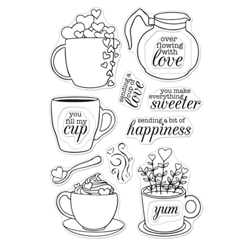 Hero Arts Clear Stamps CUP OF LOVE CM433