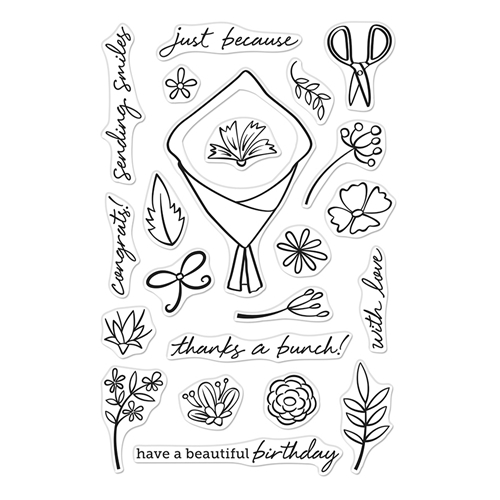 Hero Arts Clear Stamps FLOWER BOUQUET PIECES CM432  Preview Image