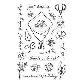 Hero Arts Clear Stamps FLOWER BOUQUET PIECES CM432