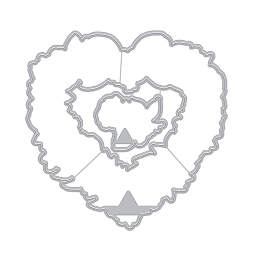 Hero Arts Frame Cuts FLORAL HEARTS WREATH Dies DI731 Preview Image