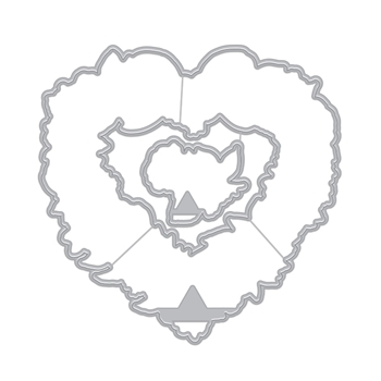Hero Arts Frame Cuts FLORAL HEARTS WREATH Dies DI731