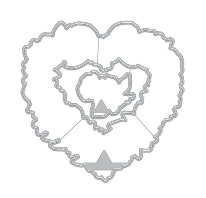 Hero Arts Frame Cuts FLORAL HEARTS WREATH Dies DI731 zoom image