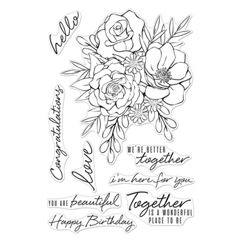 Hero Arts Clear Stamps TOGETHERNESS FLOWER BOUQUET CM421