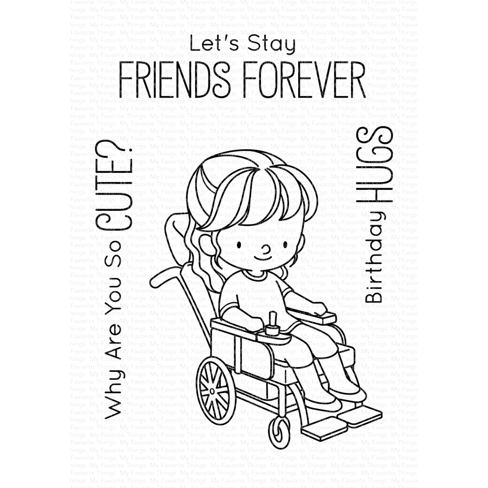 My Favorite Things FRIENDS FOREVER Clear Stamps BB97 zoom image
