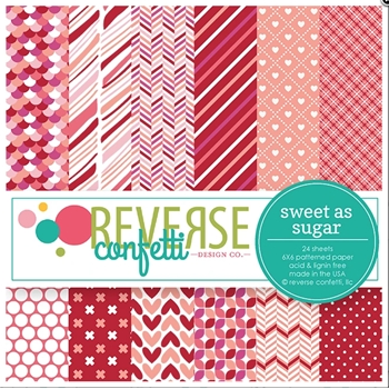 Reverse Confetti 6x6 Paper Pad SWEET AS SUGAR