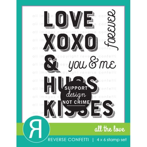 Reverse Confetti ALL THE LOVE Clear Stamps Preview Image