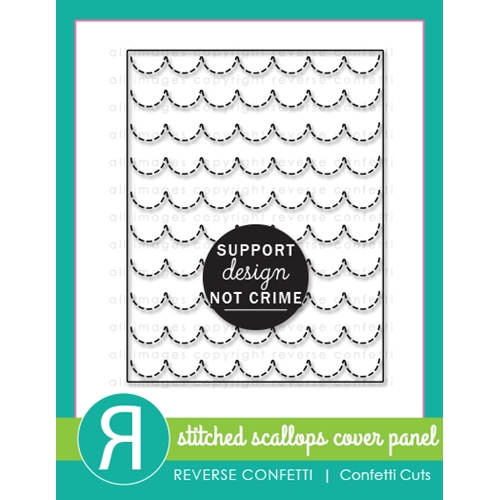 Reverse Confetti Cuts STITCHED SCALLOPS Cover Panel Die Preview Image