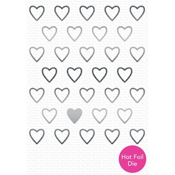 My Favorite Things IMPRESSIVE STRING OF HEARTS Die-Namics Hot Foil Die MFT1683