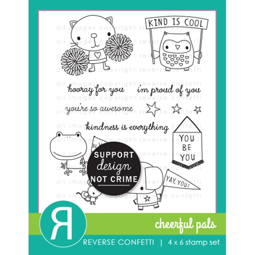 Reverse Confetti CHEERFUL PALS Clear Stamps* Preview Image