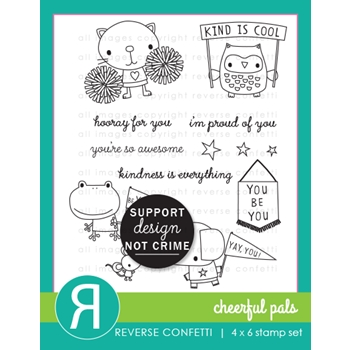 Reverse Confetti CHEERFUL PALS Clear Stamps