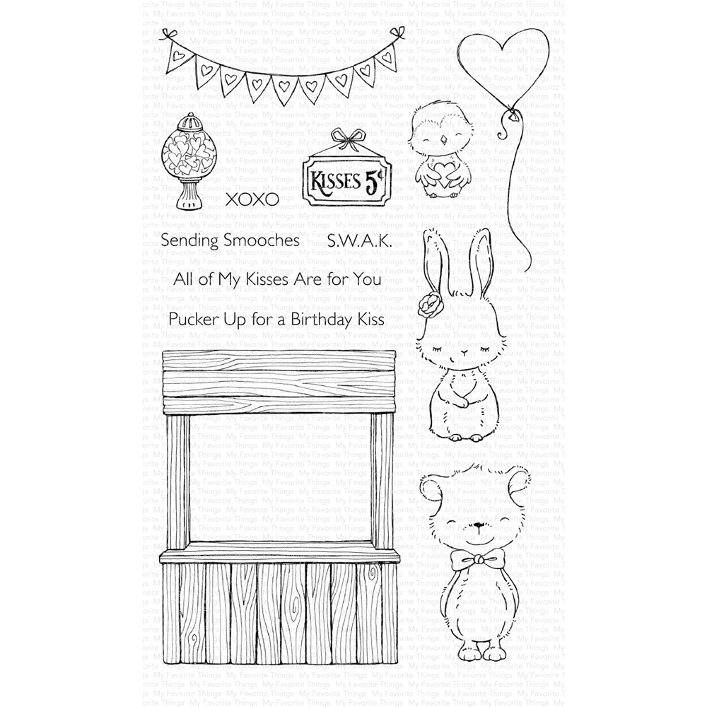 My Favorite Things KISSING BOOTH Clear Stamps SY17 zoom image