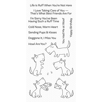 My Favorite Things PUPS AND KISSES Clear Stamps CS456