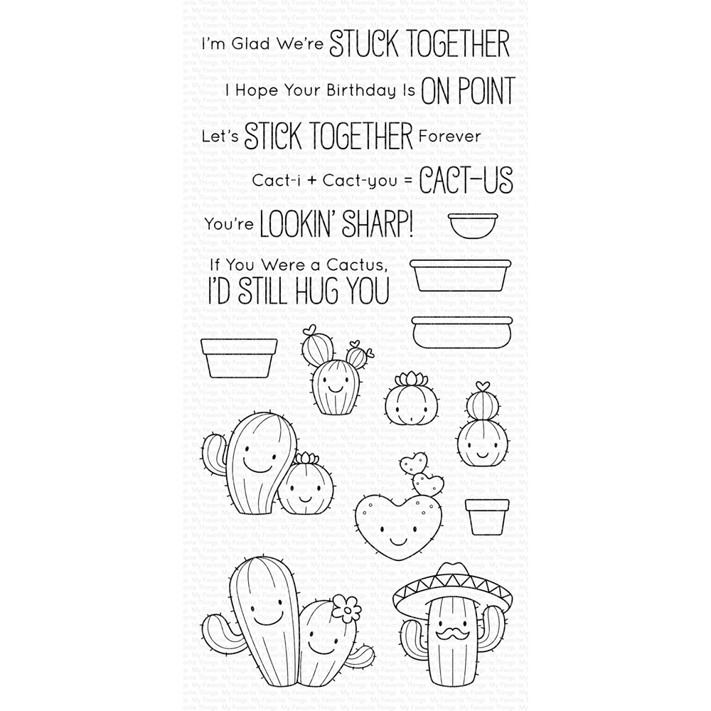 My Favorite Things LET'S STICK TOGETHER Clear Stamps BB95 zoom image