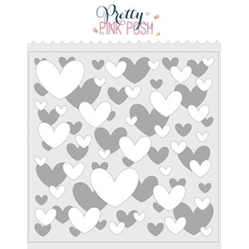 Pretty Pink Posh LAYERED HEARTS Stencils