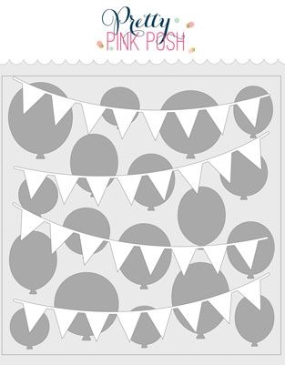 Pretty Pink Posh LAYERED BIRTHDAY Stencils zoom image