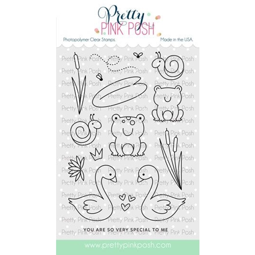 Pretty Pink Posh POND FRIENDS Clear Stamps Preview Image