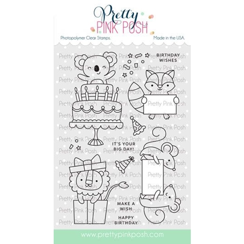 Pretty Pink Posh PARTY FRIENDS Clear Stamps Preview Image