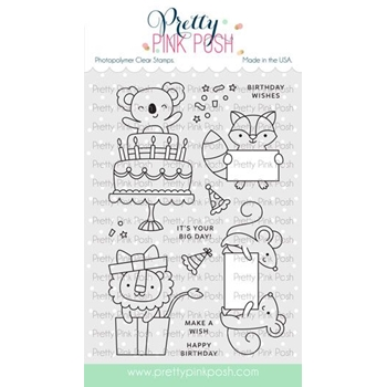 Pretty Pink Posh PARTY FRIENDS Clear Stamps