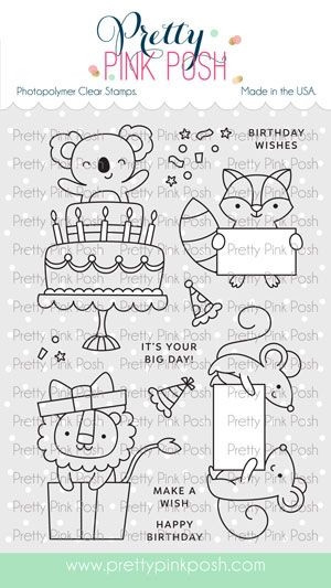Pretty Pink Posh PARTY FRIENDS Clear Stamps zoom image