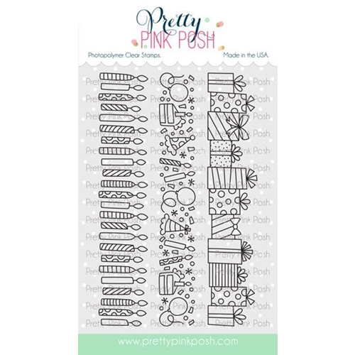 Pretty Pink Posh BIRTHDAY BORDERS Clear Stamps Preview Image