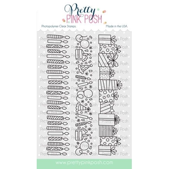 Pretty Pink Posh BIRTHDAY BORDERS Clear Stamps