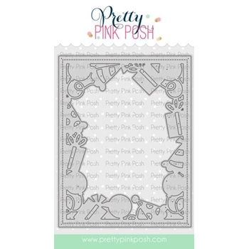 Pretty Pink Posh BIRTHDAY FRAME Die