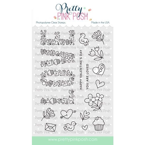 Pretty Pink Posh LOVE Clear Stamps Preview Image