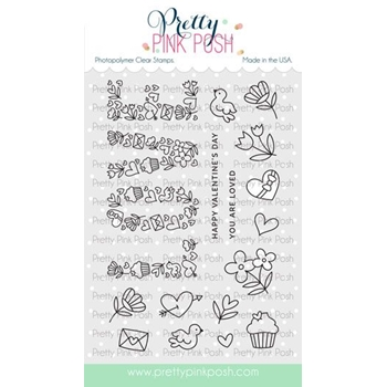 Pretty Pink Posh LOVE Clear Stamps