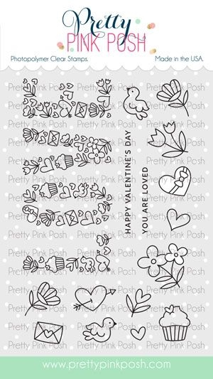 Pretty Pink Posh LOVE Clear Stamps zoom image