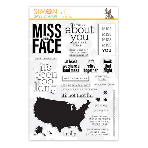 CZ Design Clear Stamps MISS YOU MISSY czs51 Hey Bestie Preview Image