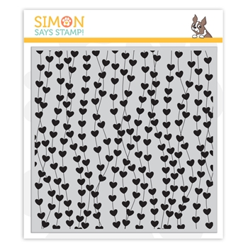 Simon Says Cling Stamp HEART GARLAND BACKGROUND sss102076 Hey Bestie