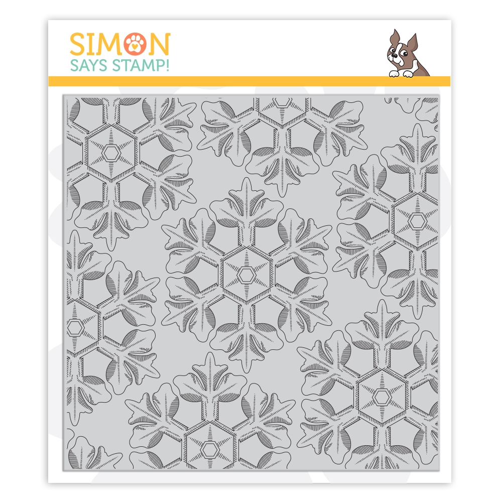 Simon Says Cling Stamp ETCHED SNOWFLAKES BACKGROUND sss102100 Hey Bestie zoom image